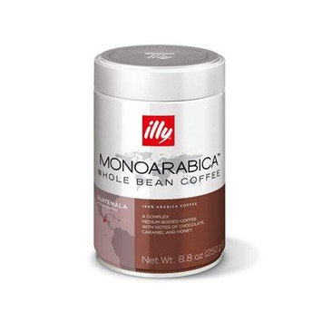 Illy MonoArabica Whole Bean Coffee Guatemala Medium-bodied Coffee, 8.8oz Tin