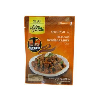Asian Home Gourmet Spice Paste for: Indonesian Rendang Curry (Gulai) (5 X 1.75 Oz)
