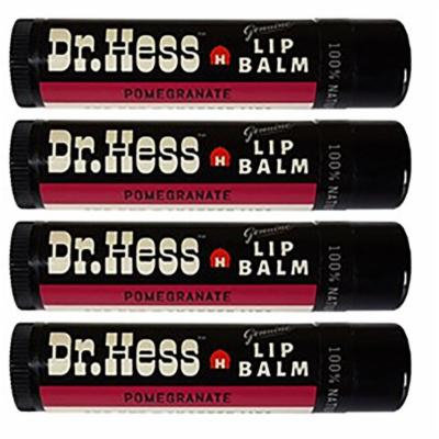 Dr Hess All Natural Lip Balm, Pomegranate, 4 Count