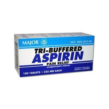 Buffered Aspirin 325 Mg Tablets 100 Count Pack of 6