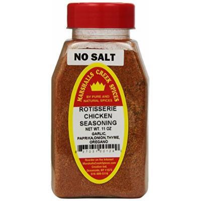 Marshalls Creek Spices Rotisserie Chicken Seasoning, No Salt, 11 Ounce