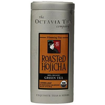 Octavia Tea Roasted Hojicha (Organic Green Tea), 1.87-Ounce Tin