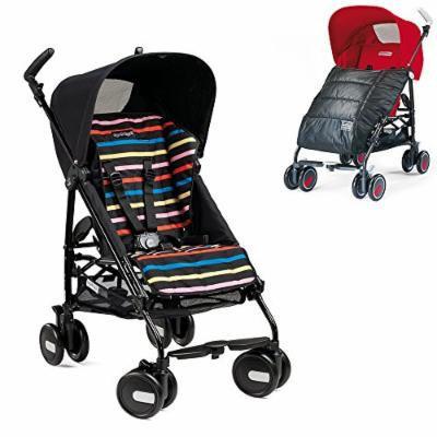 Peg-Perego Pliko Mini Stroller w Pliko Mini Boot, Charcoal (Neon)