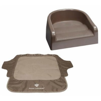 Prince Lionheart Soft Booster Seat with Seat Neat Chair Cover, Brown