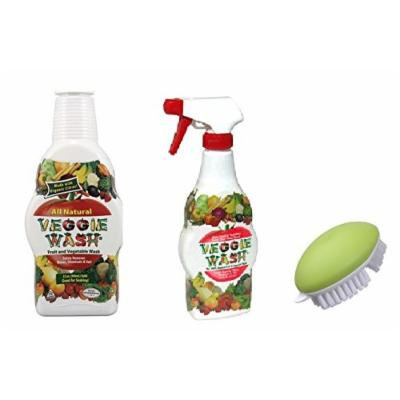Citrus Magic 16 oz. Fruit and Vegetable Wash, 32 oz. Veggie Wash Refill, and Progressive International Veggie Brush