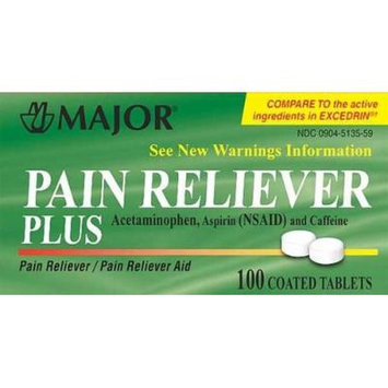 Pain Reliever Plus, Tablet, 100ct (2 PACK)