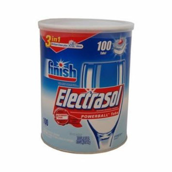 Finish Electrasol Dishwasher Detergent with Powerball Tabs - 3 in 1