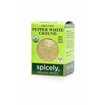 Spicely Organic Ground Pepper, White - Compact