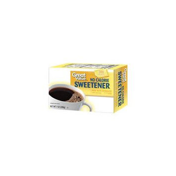 Great Value: No Calorie Sweetener, 7 oz(Pack of 4)