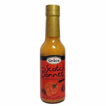 Grace Scotch Bonnet Hot Pepper Sauce 4.8oz - (4 Pack)