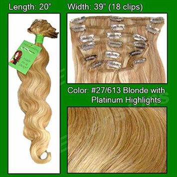 Pro Extensions Hair Extensions #27/613 Blonde w/ Platinum Highlights - 20 inch Body Wave