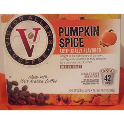 VICTOR ALLEN'S PUMPKIN SPICE MEDIUM ROAST, SINGLE SERVE COFFEE, 42 K-CUPS