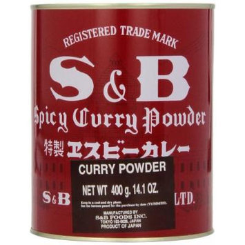 S & B Curry Powder, 14.1-Ounce Tins (Pack of 4)