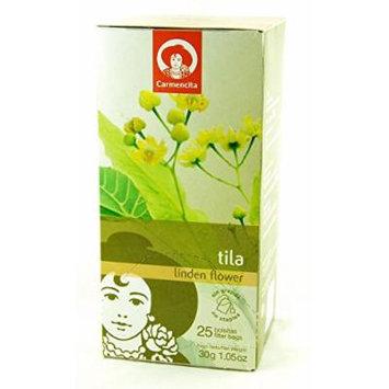 Carmencita Spanish Linden Flower Tea (Tila / Tilo) 25 Tea Bags 1.05oz 3 Pack