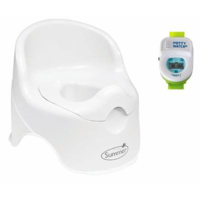 Summer Infant Lil' Loo Toddler Potty with Green Potty Watch Toilet Trainer