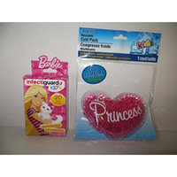 Reusable Cold Boo Boo Pack + Bandages for Kids - Heart Princess + Barbie Bandages