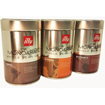 illy MonoArabica Whole Bean Trio 7881 7882 7883