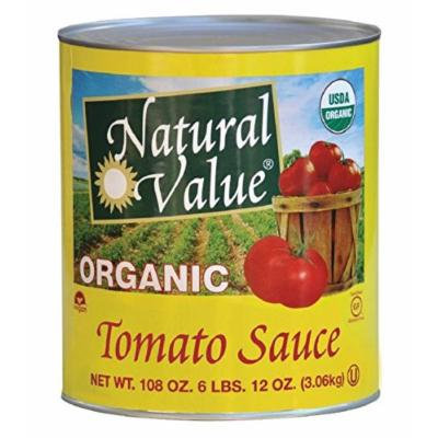 Natural Value Organic Tomato Sauce, 106 Ounce (Pack of 6)