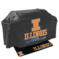 Mr. Bar-B-Q 155105-153164 University of Illinois Fighting Illini NCAA Grill Cover & Grill Mat Set