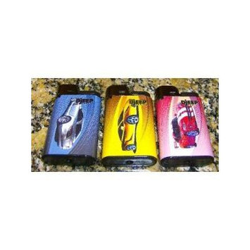 Lot of 3 Djeep Sport Car Series Lighters Full Set New