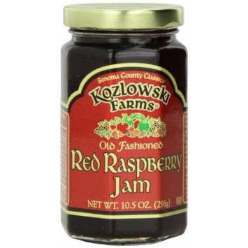 Kozlowski Farms Jam, Red Raspberry, 10.5-Ounce (Pack of 6)