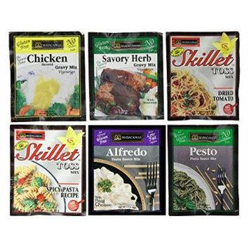 MAYACAMAS , Gravy,Pasta and Pesto Mix-Top Sellers Variety 6 Pack [Gluten Free] [6pk]