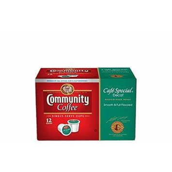 Community Coffee Single-Serve K-Cups, Cafe Special DECAF - 12 Count