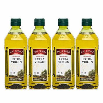 Palermo First Cold Pressed Extra Virgin Olive Oil 16 Oz (4 Pack)