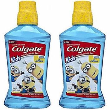 Colgate Kids Minions Bello Bubble Fruit Anticavity Fluoride Rinse, 16.9 Oz (Pack of 2)