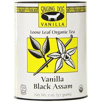 Singing Dog Vanilla Organic Tea, Black Assam, 2 Ounce