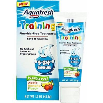 Aquafresh Training Toothpaste for Infants Apple Banana -- 1.5 oz Pack of 5