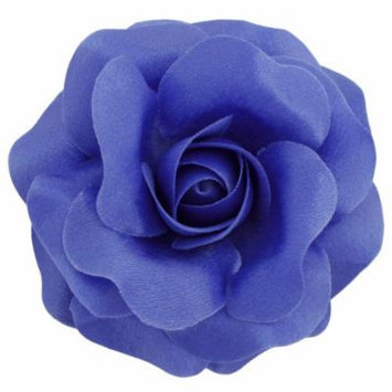 Sara Monica Flower Hair Clip and Pin: Rose: Made in the USA (Periwinkle)