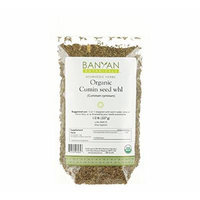 Banyan Botanicals Cumin Whole - Certified Organic, 1/2 lb - Cuminum cyminum - Common cooking spice that promotes healthy digestion