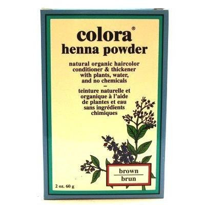 Colora Henna Veg-Hair Brown 2 oz. (3-Pack) with Free Nail File