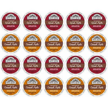 20-count Single Serve Cups for Keurig K-Cup Brewers Grove Square Apple Cider Variety Pack Featuring Spiced Apple Cider and Caramel Apple Cider Cups