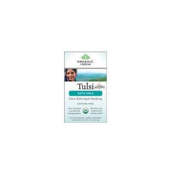 Organic India Tulsi Tea, Gotu Kola 18 bags (Pack of 2)