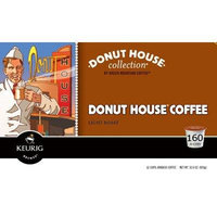 Donut House Collection Donut House Caffeinated Coffee for Keurig Brewing Systems, 160 K-Cups