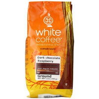 White Coffee Dark Chocolate Ground Coffee, Raspberry, 12 Ounce