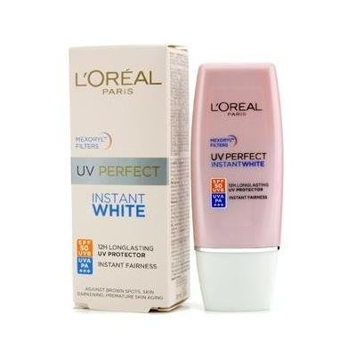 Loreal Uv Perfect Instant White Protect Longlasting to 12hrs Spf 50+ Uvb, Uva Pa++++ 30ml