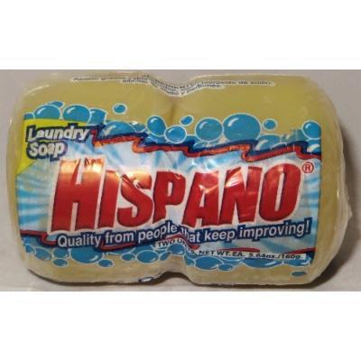 Hispano Laundry Soap 2 BAR Round 5.64 Oz /160 Gr (Pack of 6) 12 Bars Total
