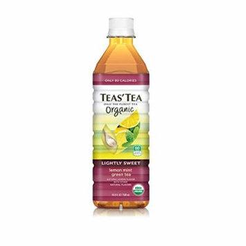 Teas' Tea Organic Lightly Sweet, Lemon Mint Green Tea, 16.9 Ounce (Pack of 12)