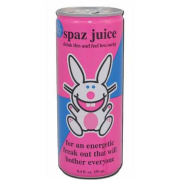 Happy Bunny Spaz Juice, 8.4-Ounce Cans (Pack of 24)