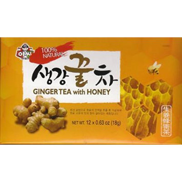 Instant Ginger Tea with Honey - 12 Bags X 0.63oz