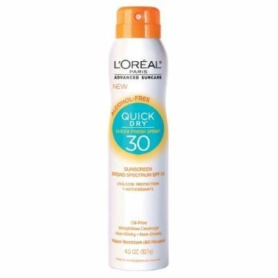 L'Oreal Paris Alcohol Free Quick Dry Sheer Finish Sun Screen Spray SPF 30 (127 Gm)