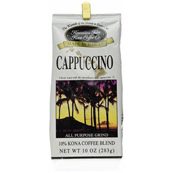 Hawaiian Isles Kona Coffee Co. Cappuccino 10 oz.
