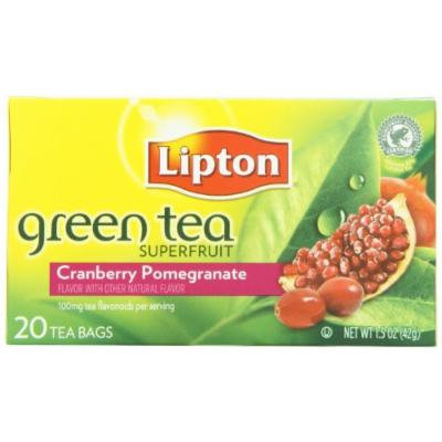 Lipton® Green Tea, Cranberry Pomegranate, Tea Bags