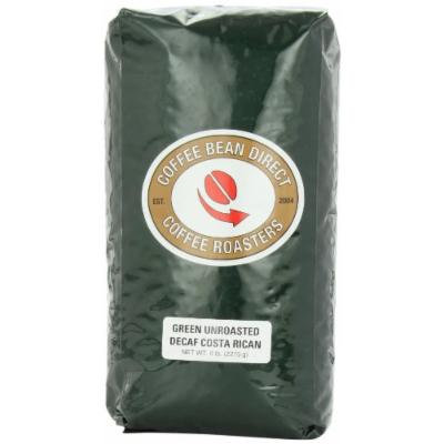 Green Unroasted Decaf Costa Rican, Whole Bean Coffee, 5-Pound Bag