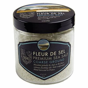 Ojio Fleur De Sel Sea Salt - Coarse Ground - 12 oz