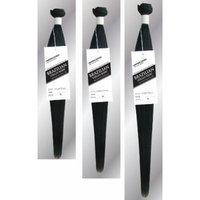 Brazilian Virgin Remy Yaki Straight Human Hair 3 Bundles 300 Grams Unprocessed Jet Black, Natural Black, Color Extensions (14