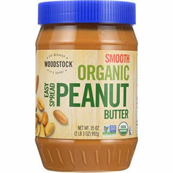 Peanut Butter, Organic, Sprd, Smth, Sl, 35 oz (pack of 12 )